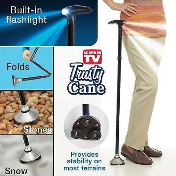 Трость с Led фонариком TRUSTY CANE