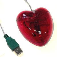 Мышь для ПК в виде сердца прозрачная